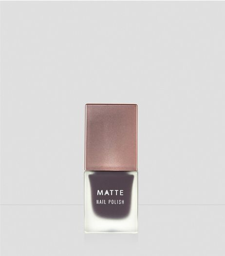 Aubergine Purple Matte Nail Polish | New Look