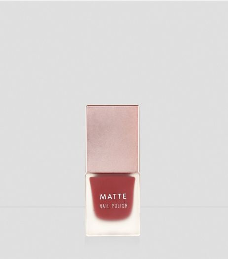 Deep Ruby Matte Nail Polish | New Look