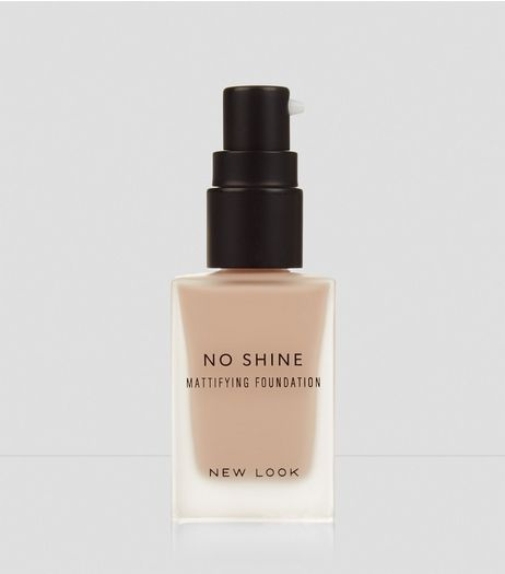 Light Beige No Shine Mattifying Foundation | New Look