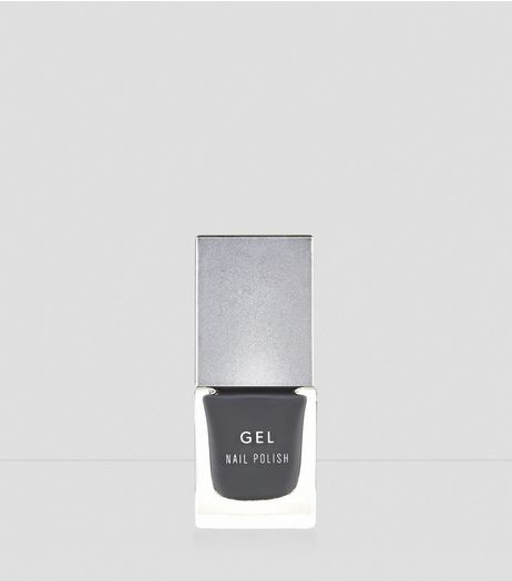 Smoke Grey Gel Nail Polish | New Look