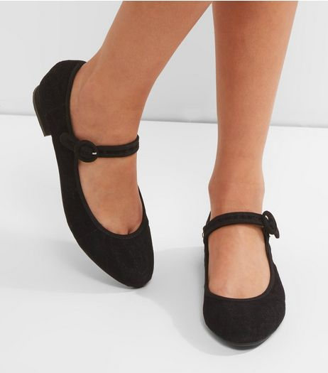 Black Suedette Sling Back Mules | New Look