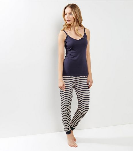 Navy Stripe Pyjama Set | New Look