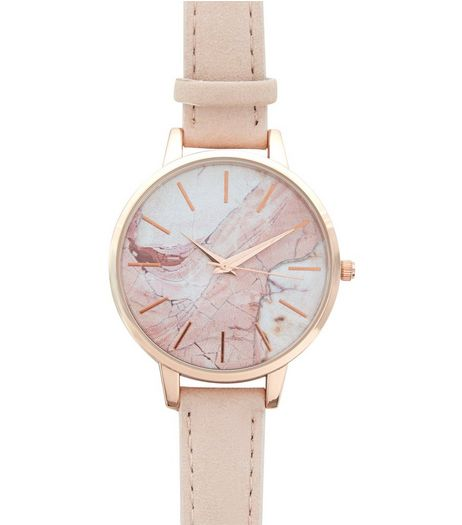 Pink Marble Dial Watch | New Look