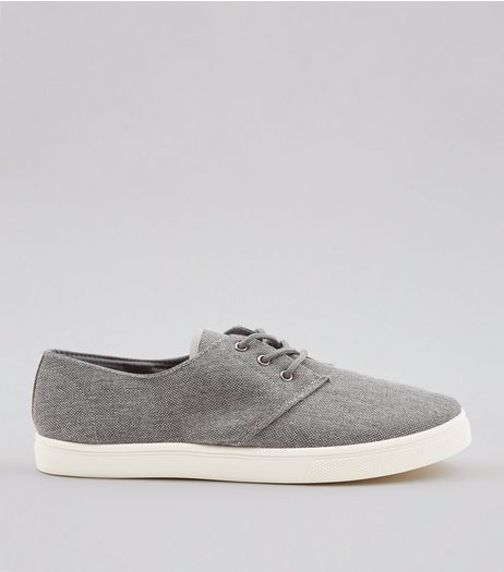 Dark Grey Canvas Plimsolls  | New Look