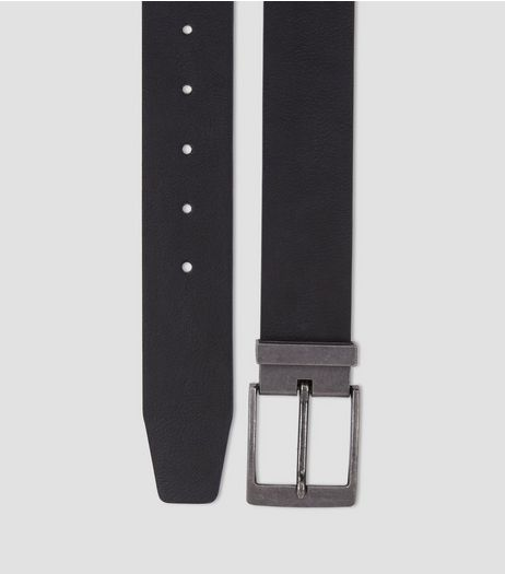 Black Tapered End Belt | New Look