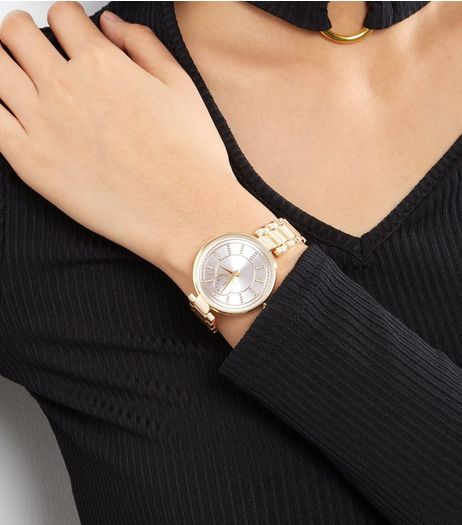 Gold Diamanté Dial Sports Watch | New Look