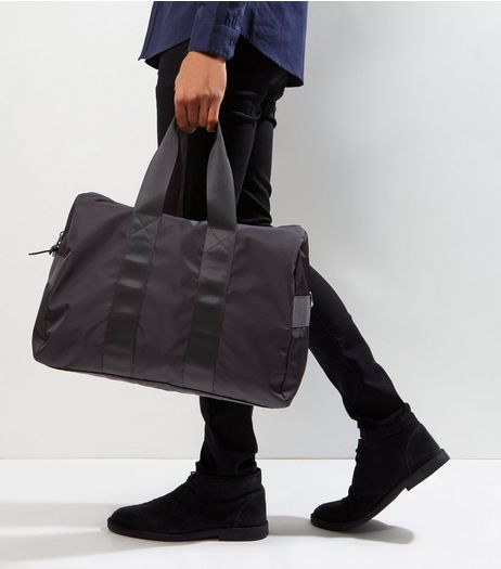 Black Double Strap Holdall | New Look