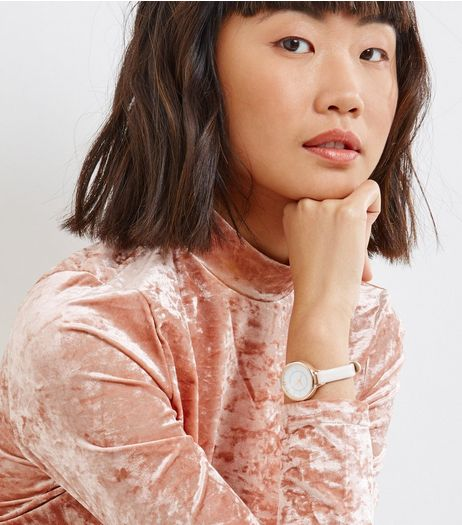 Rose Gold Skinny Strap Watch | New Look