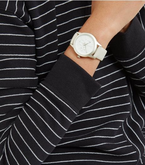 Light Grey Sports Strap Watch | New Look