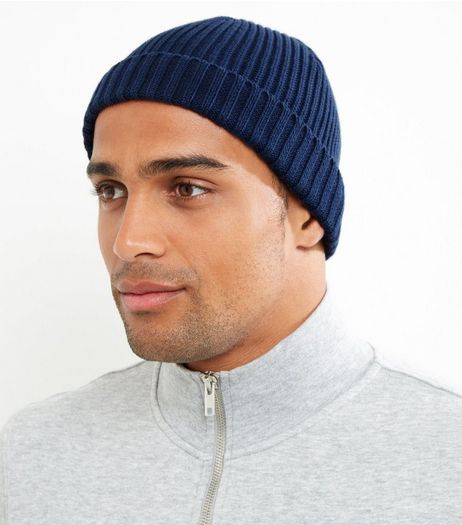 Blue Ribbed Cotton Beanie Hat | New Look