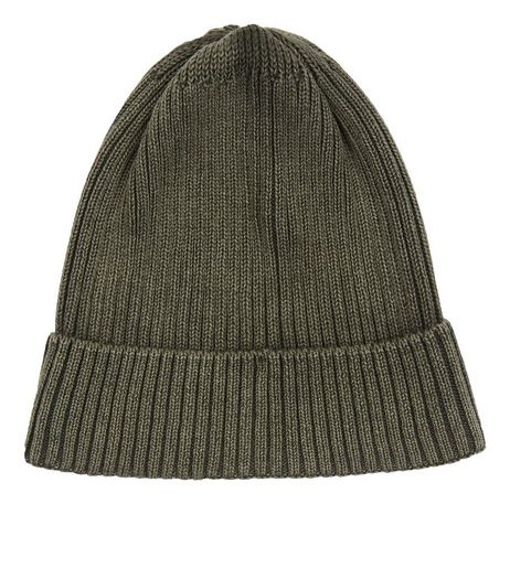 Green Washed Beanie | New Look