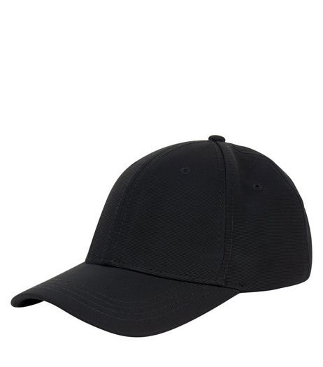 Black Canvas Cap | New Look