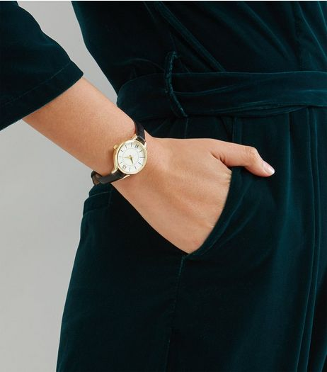 Black Skinny Strap Watch | New Look
