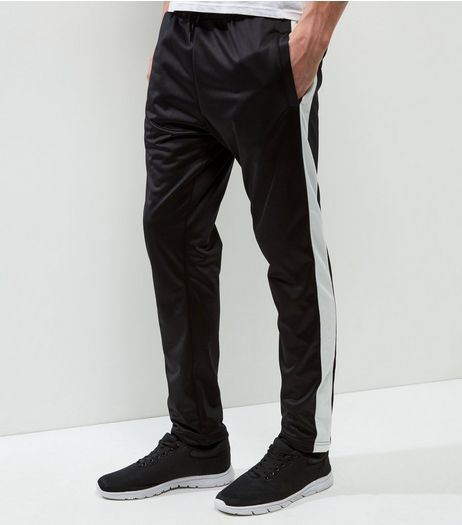 Black Tape Print Joggers | New Look