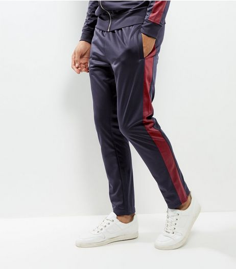 Navy Track Joggers | New Look