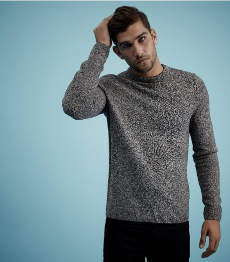 Grey Textured Crew Neck Jumper  | New Look