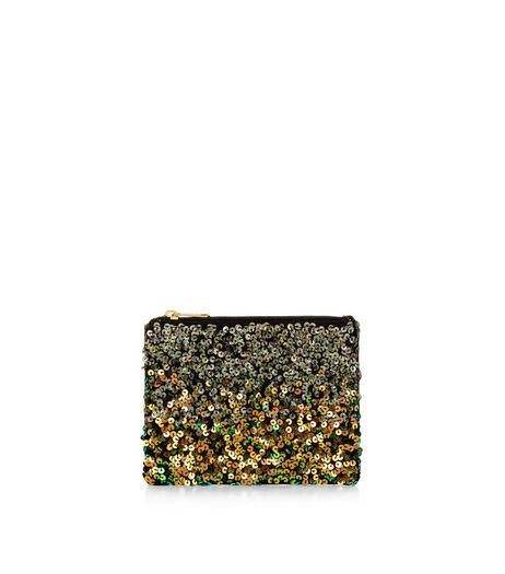 Gold Sequin Embellished Purse  | New Look