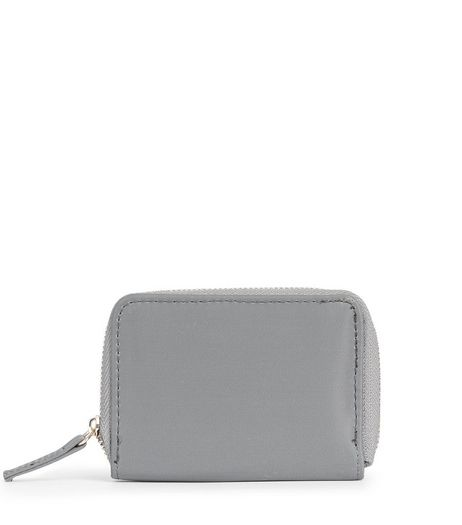Grey Zip Around Cardholder | New Look