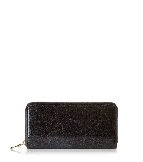 Black Glitter Purse | New Look