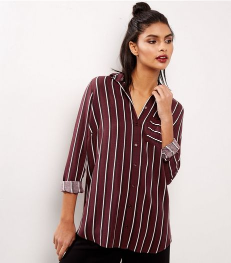 Red Stripe Pocket Front Shirt | New Look