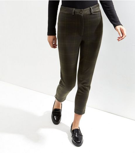 Green Check Trousers | New Look