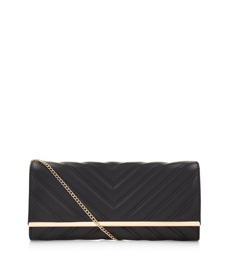 Black Quilted Clutch | New Look