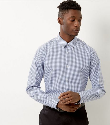 Pale Blue Check Print Long Sleeve Shirt | New Look