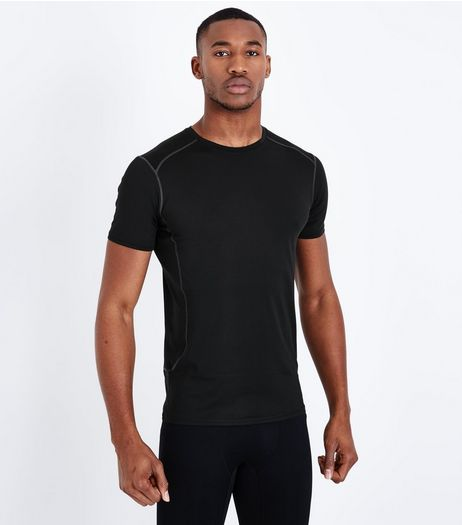 Black Stretch Short Sleeve Sports T-Shirt | New Look