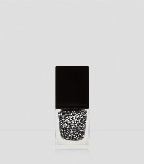 Black Queen Of The Night Glitter Nail Polish | New Look