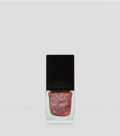 Pink Show Business Glitter Nail Polish | New Look