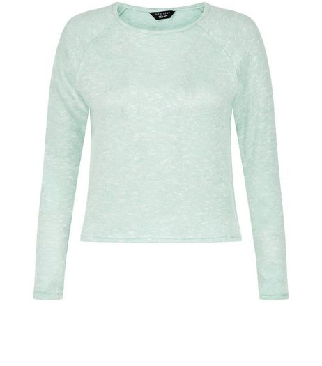 Teens Mint Green Split Side Jumper | New Look