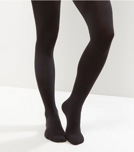 Black 80 Denier Luxury Shaping Tights | New Look