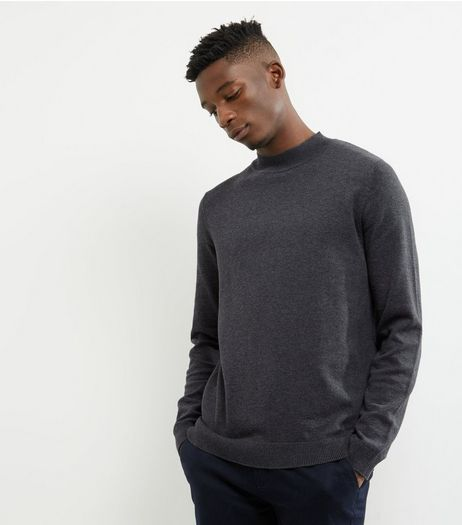 Dark Grey Cotton Turtle Neck Jumper | New Look