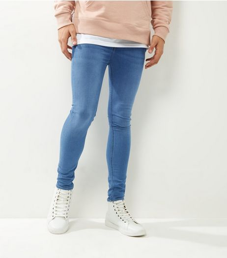 Pale Blue Washed Extreme Super Skinny Jeans | New Look