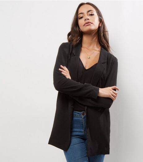 Black Crepe Blazer  | New Look