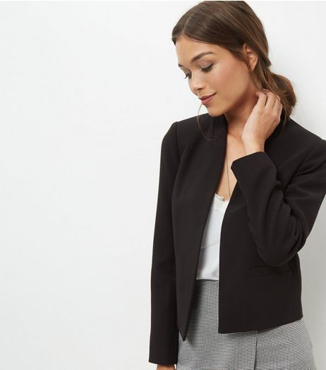 Black Cropped Jacket  | New Look