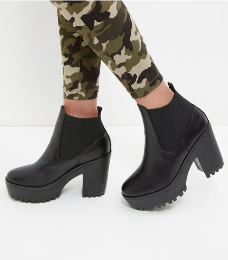 Black Chunky Chelsea Boots  | New Look
