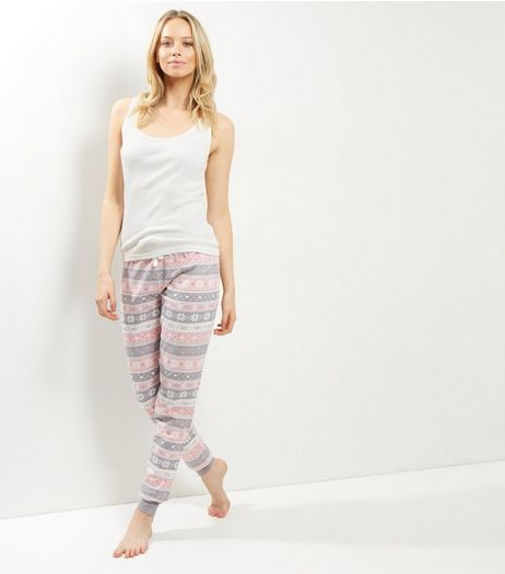 Tall Pastel Pink Fairisle Pyjama Set | New Look