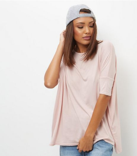 Mid Pink Oversized T-Shirt  | New Look