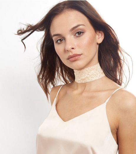 Cream Lace Wide Choker | New Look