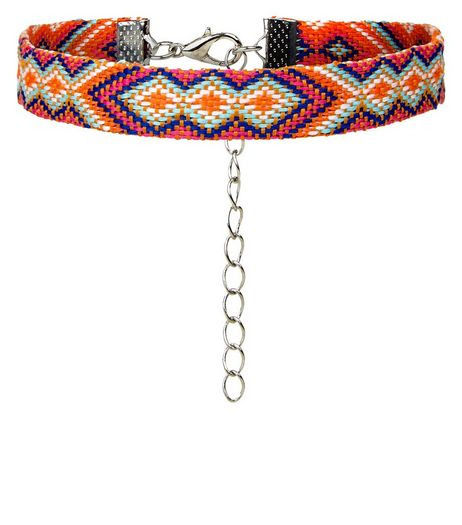 Multicoured Pattern Anklet | New Look