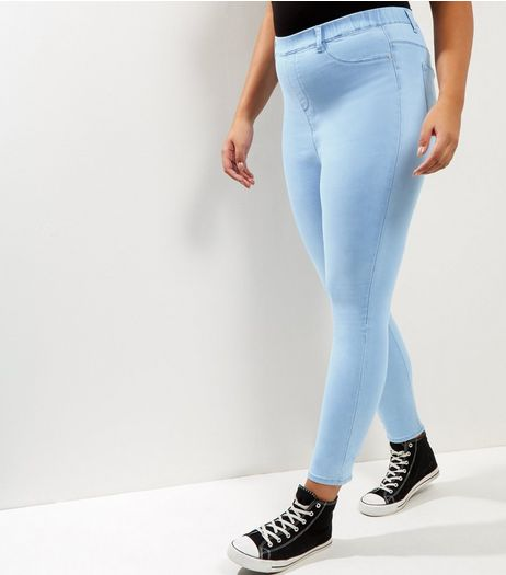 Curves Pale Blue Jeggings | New Look