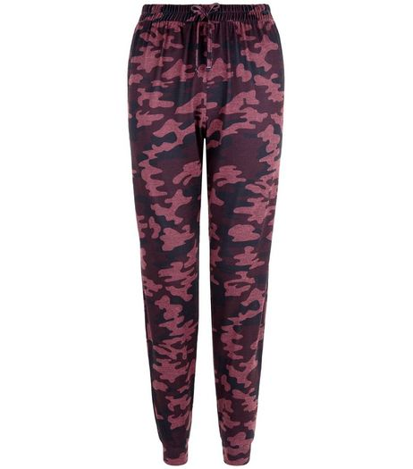 Teens Red Camo Print Joggers | New Look