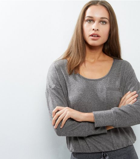 Grey Brushed Lounge Sweater | New Look