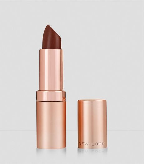 Dark Brown Matte Lipstick  | New Look