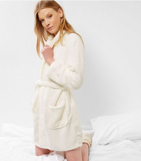 Cream Textured Dressing Gown | New Look