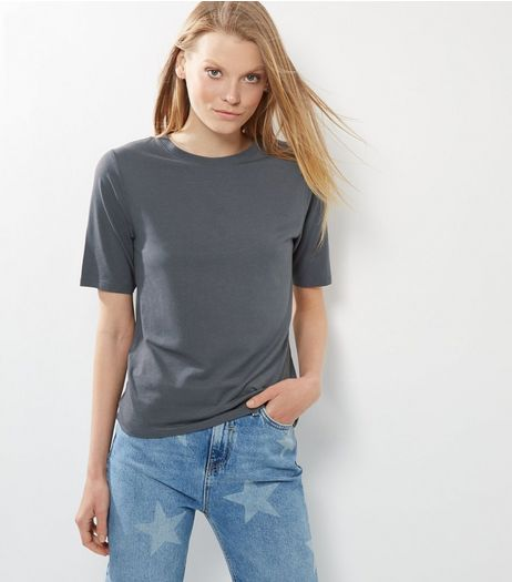 Grey Soft Wash T-Shirt | New Look