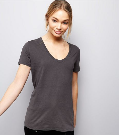 Dark Grey Short Sleeve T-Shirt  | New Look