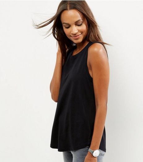 Black Boyfriend Tank Top  | New Look