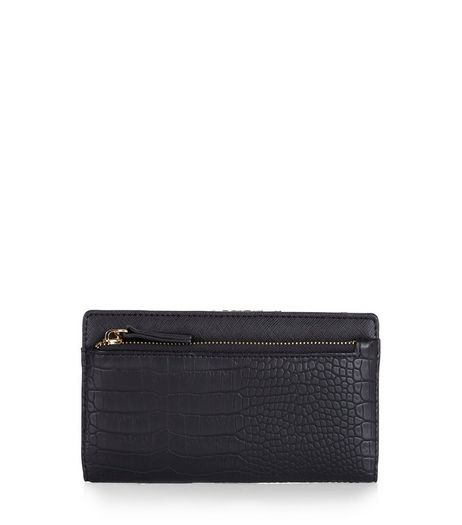 Black Snakeskin Texture Frame Purse | New Look